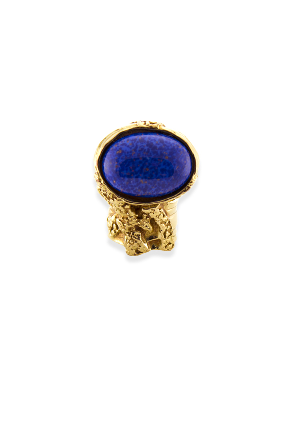 Yves Saint Laurent - Arty Oval Ring (Lapis Lazuli) - Size 4