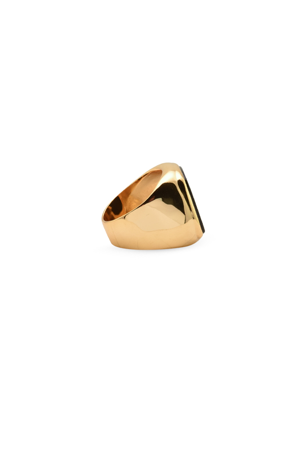 Celine - Black Onyx Cocktail Ring   7 5 View 3