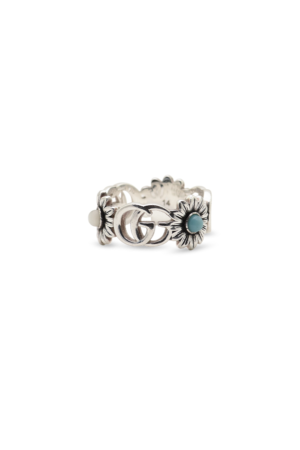 Gucci - Double G Flower Ring - Size 6.25