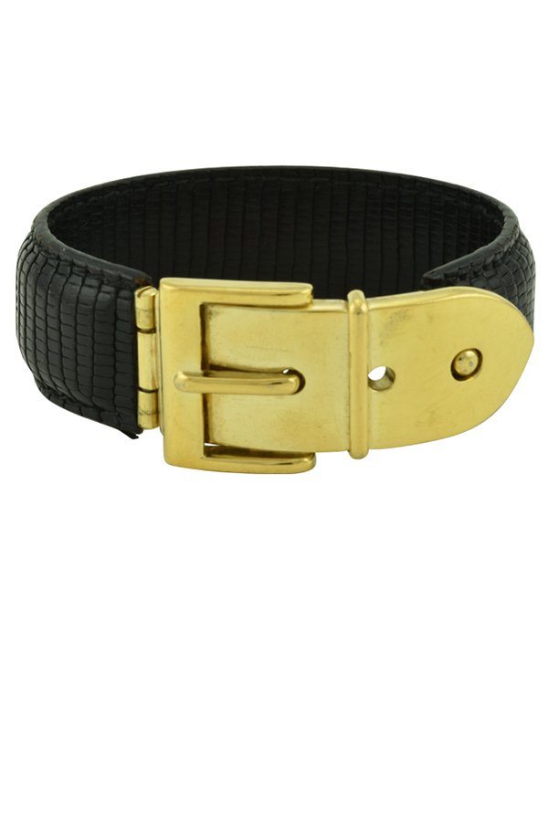 Gucci - Vintage Wide Logos Bracelet  Black  View 1