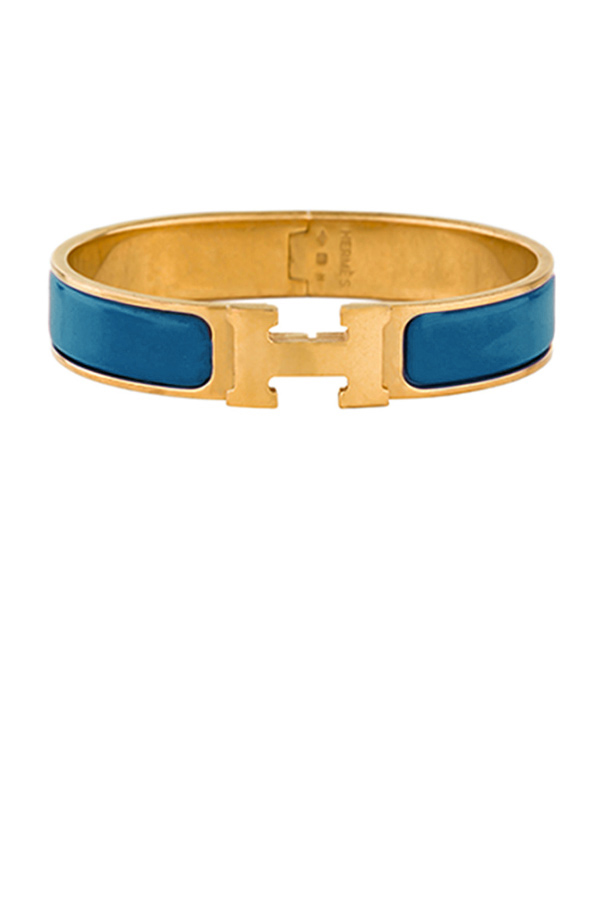 Hermes - Narrow Clic H Bracelet (Aegean/Yellow Gold Plated) - PM