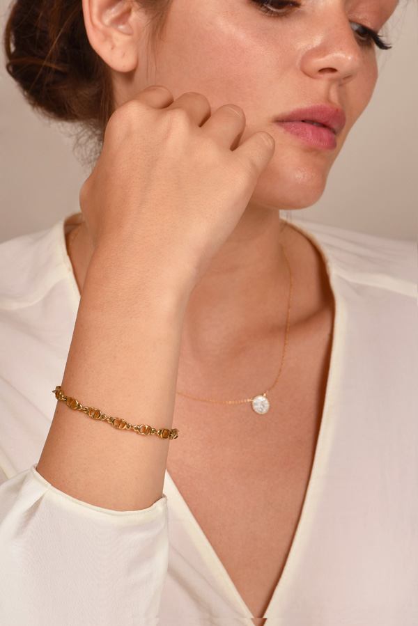 Christian Dior - Vintage Logos Gold Chain Bracelet View 2
