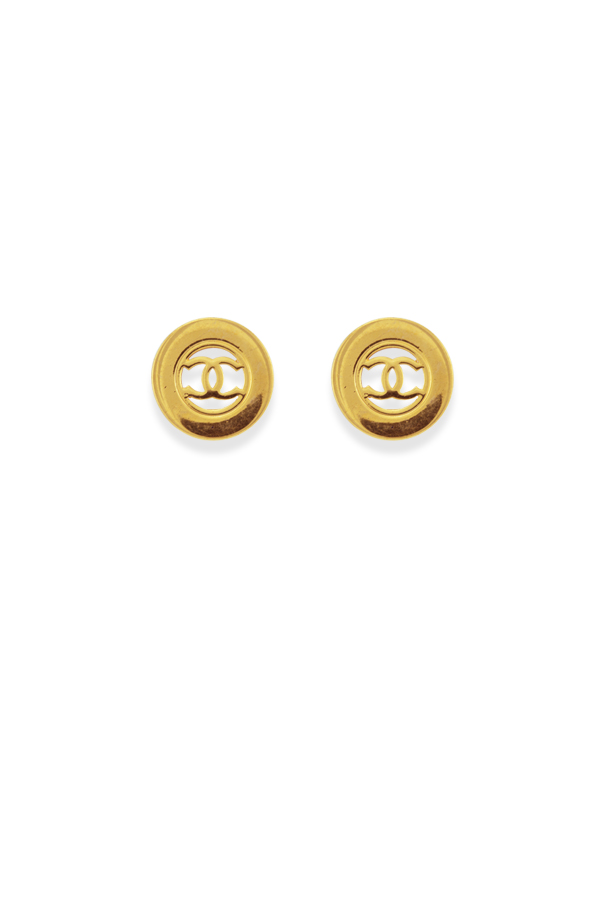 Chanel - 963585954_Switch Jewelry Chanel CC Gold Clip On Round Earrings  1  jpg