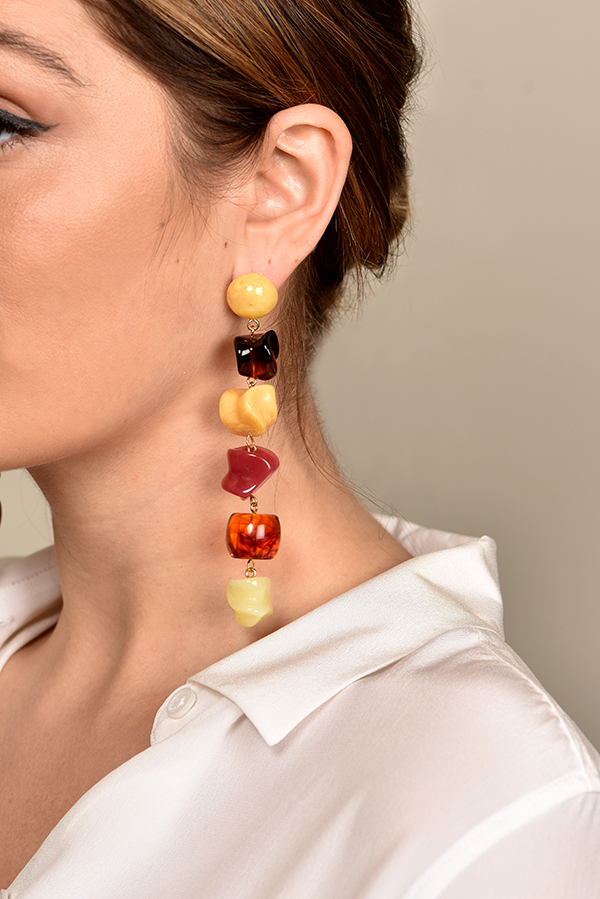 Cult Gaia - Leo Earrings - Amber Multi