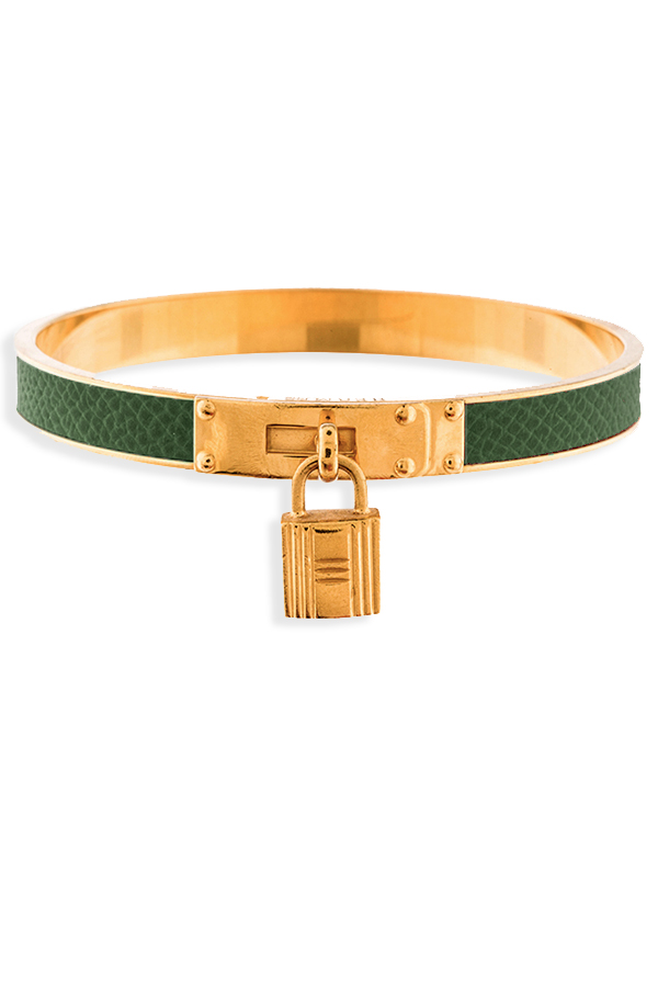 Hermes - Kelly Cadena Lock Bangle (Jade Green)