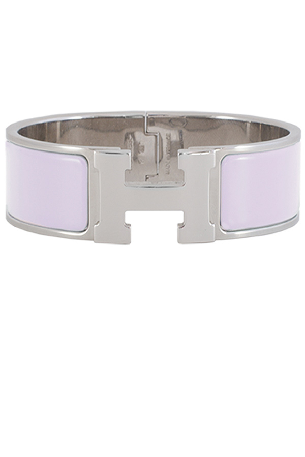 Hermes - Wide Clic Clac H Bracelet (Rose Dragee/Palladium Plated) - PM