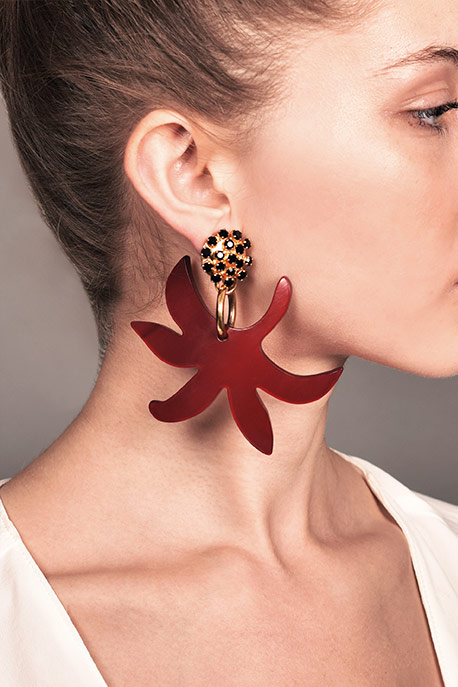 Marni - Floral Drop Clip On Earrings View 2