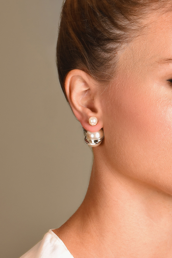 Christian Dior - Tribale Earrings (Semi-Round Pearls)